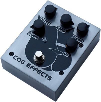 Cog Effects - Custom T-65 Octave pedal for guitar and bass, with Big Dog artwork