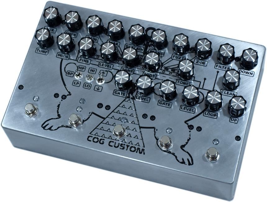 Cog Effects Custom Multi-Effects Bass Guitar Pedal with T-65 Analogue Octave, Grand Tarkin Bass Fuzz, Gated Fuzz, Envelope Filter and Reverb
