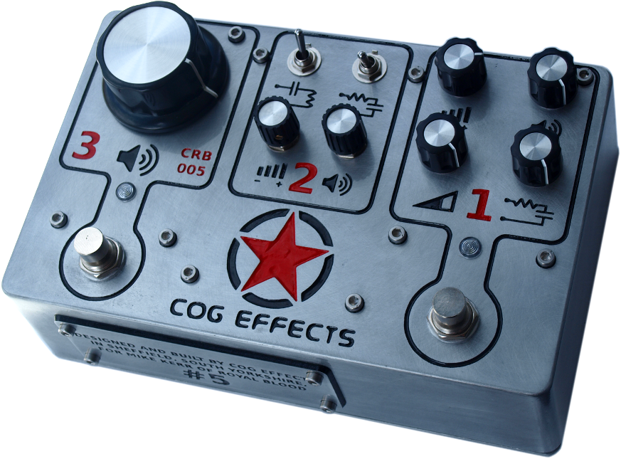 Cog Effects Custom Royal Blood Bass Guitar Effects Fuzz Pedal