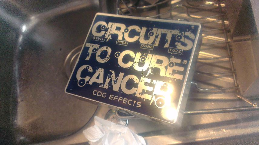 Cog Effects - Custom Dual Tarkin Fuzz Pedal for Circuits to Cure Cancer Charity Auction 2014 with one-off custom etched enclosure