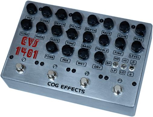 Cog Effects Custom CVS-1401 Avenger Bass Guitar Multi-Effect with Envelope Filter, Chorus, Delay and Reverb
