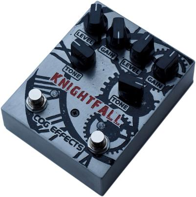 Cog Effects - Stock Effects Pedal - Dual Knightfall Distortion - Standard Etched Enclosure