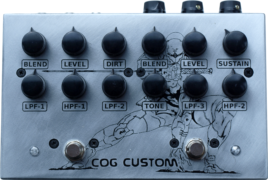 Cog Custom - Custom Effects Pedal with Grand Tarkin Bass Fuzz and TK-421-X Bass Distortion -