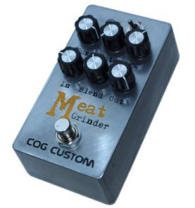 Cog Custom - Custom Effects Pedal - Meat Grinder Bass Fuzz With Clean Blend, Input Impedance Control, and Gate - Etched Enclosure