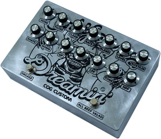 Cog Effects Custom Bass Multi-Effects with T-65 Octave, Analogue Chorus, and Grand Tarkin Bass Fuzz with mid-humped clean blend built for Ant Wright of Brawlers