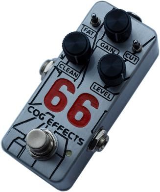 Cog Effects - Stock Effects Pedal - Mini 66 Bass Overdrive Standard Enclosure