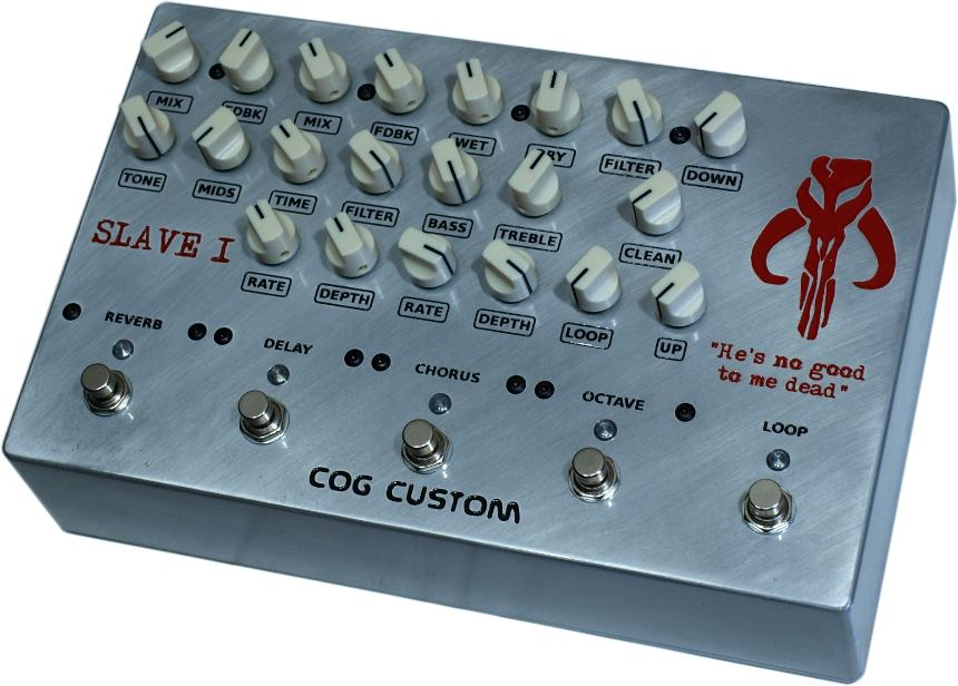 Cog Effects Custom Bass Guitar Multi-Effects Pedal with T-65 Octave, Chorus, Delay, Reverb and effects loops