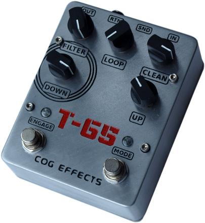 Cog Effects - Stock Effects Pedal - T-65 Octave - Engraved Enclosure