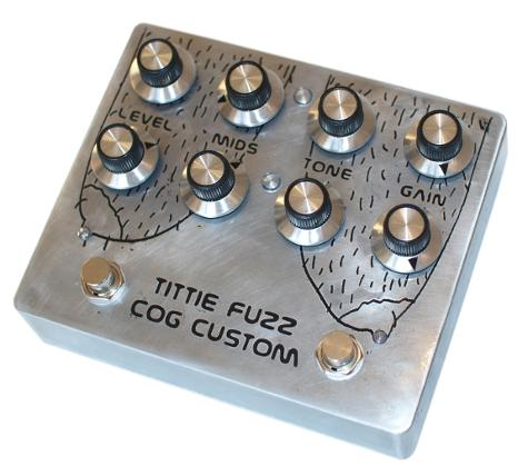 Cog Custom - Custom Effects Pedal - Tittie Fuzz Dual Tarkin - Etched Enclosure - Artwork Shave Them Titties by Mr Boonstra for Rob Graham of Wet Nuns