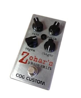 Cog Custom - Custom Effects Pedal - Zohar's Phase Shift 4/6/8-stage Phaser - Etched Enclosure