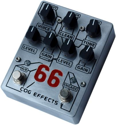 Cog Effects - Stock Effects Pedal - Knightfall 66 - Standard Engraved Finish