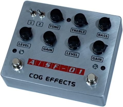 Cog Effects Custom A/SF-01 Bass Guitar Overdrive and Distortion