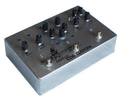 Cog Custom - Custom Effects Pedal - Aeolus Custom Bass Overdrive - Etched Enclosure