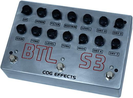 Cog Effects Custom BTL-S3 Bass Guitar Multi-Effect Pedal with T-65 Analogue Octave, Knightfall and Grand Tarkin Blended in Parallel