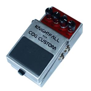 Cog Effects Knightfall Distortion Guitar and Bass Effects Pedal Rehoused In A Recycled and Modified Boss DS-2 Enclosure With True Bypass Switching