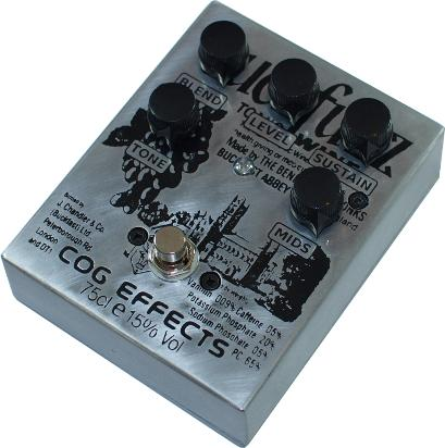 Cog Custom - Custom Effects Pedal - Buckfuzz Buckfast Custom Grand Tarkin Bass Fuzz - Etched Enclosure