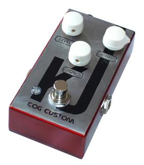 Cog Custom - Custom Effects Pedal - Custom Darklighter Overdrive Guitar Effect Pedal - Etched Enclosure