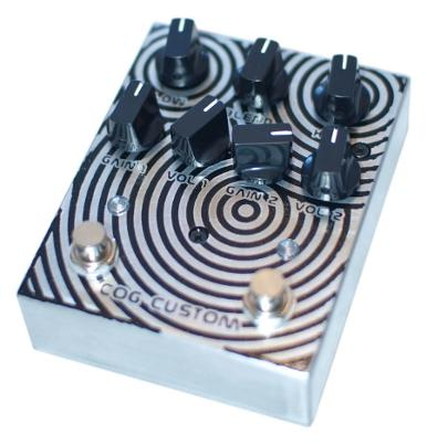 Cog Custom - Custom Effects Pedal - Circles Knightfall 66 - Etched Enclosure