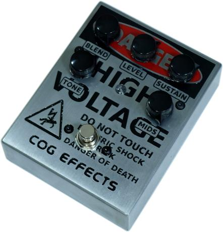 Cog Effects Custom Grand Tarkin Bass Fuzz with Engraved Danger High Voltage Artwork