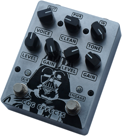 Cog Effects Custom Darth Vader Knightfall 66 Bass Guitar Overdrive Distortion Effects Pedal