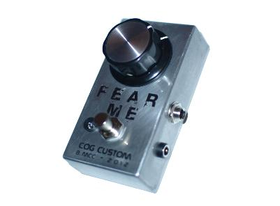 Cog Custom - Custom Effects Pedal - Fear Me MOSFET Boost - Etched Enclosure