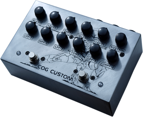 Cog Effects Custom Gray Fox Fuzz with Grand Tarkin Bass Fuzz and TK-421 Distortion