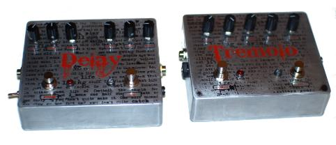 Cog Custom - Custom Effects Pedal - Inch By Inch, Play By Play Delay and Tremolo - Etched Enclosures