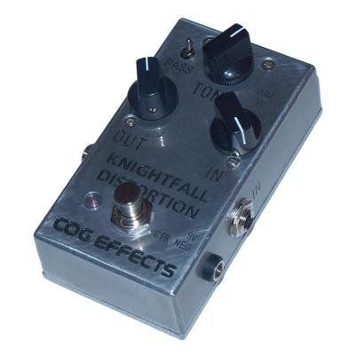 Cog Effects - Stock Effects Pedal - Knightfall Distortion - Engraved Enclosure