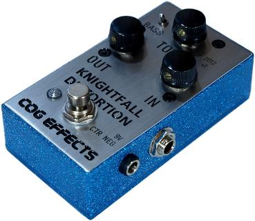 Cog Effects Custom Engraved Knightfall Distortion With Disco Blue Finish
