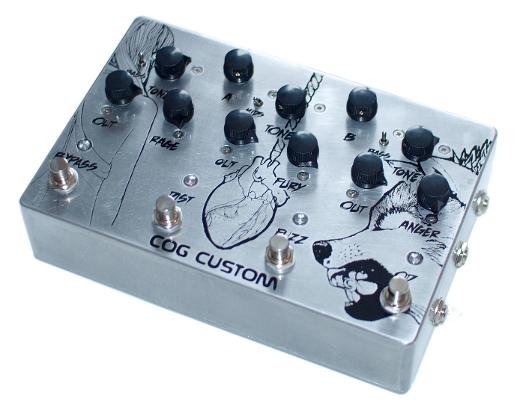 Cog Custom - Custom Effects Pedal - Like Rome Routing and Dirt Box - Etched Enclosure
