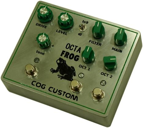 Cog Effects Custom Octa Frog Octave Overdrive Guitar Effects Pedal