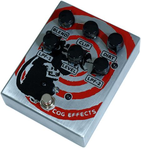Cog Effects Custom TK-421-X Bass Distortion with Banksy Tribute Radar Rat Engraved Artwork