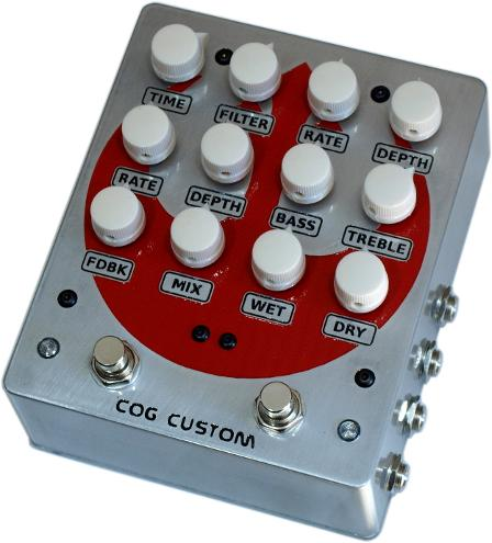 Cog Effects Custom Bass Guitar Pedal - Starbird Rebel Alliance Logo - Digital modulating delay and analogue chorus