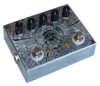 Cog Custom - Custom Effects Pedal - Rings Modulating Delay - Etched Enclosure
