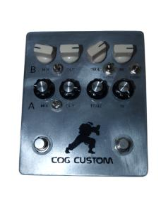Cog Custom - Custom Effects Pedal - Street Fighter Dual Bass Drive - Etched Enclosure