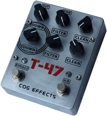 Cog Effects T-47 Analogue Octave Bass Guitar Effects Pedal