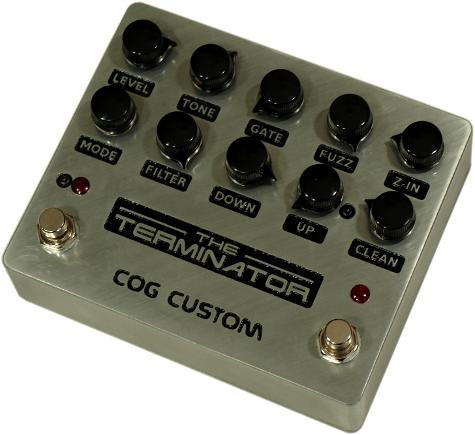Cog Effects Custom Terminator Bass Guitar Effects Pedal T-65 Octave and Gated Fuzz With Custom Engraving