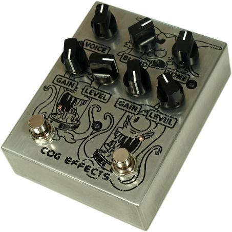 Cog Effects Custom Knightfall 66 Bass Distortion Pedal with Kang and Kodos Custom Engraved Tribute Artwork